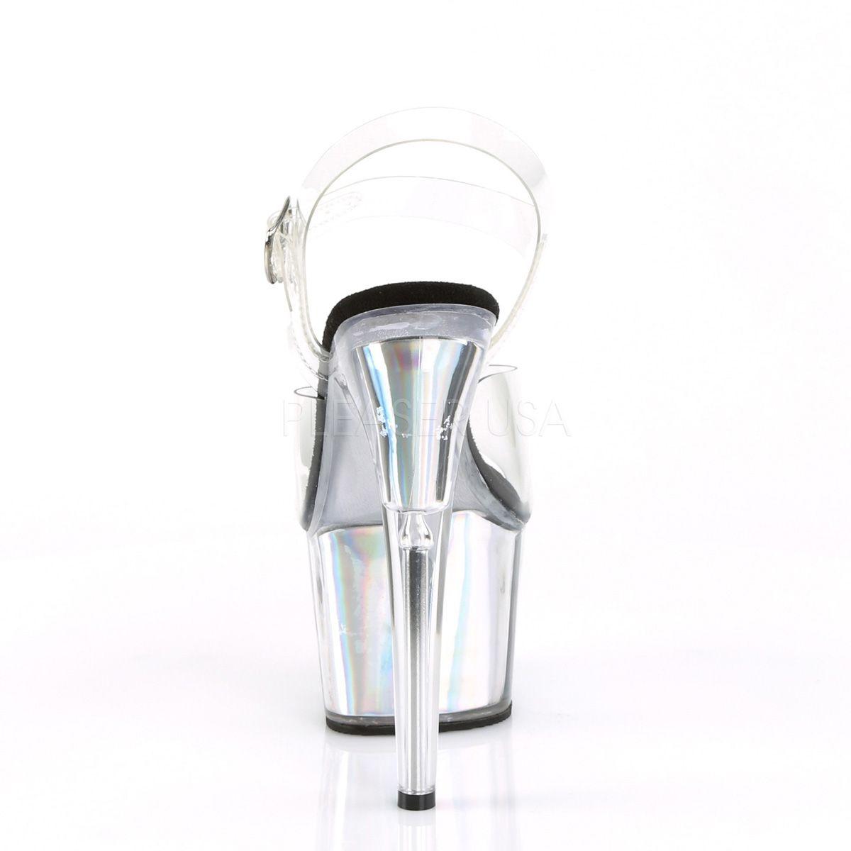 """Sandalias Exotic Pole de 7"""" pulgadas con inserciones holográficas"""