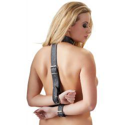 Correas de dominación ajustables para cuello y muñecas en cuero sintético
