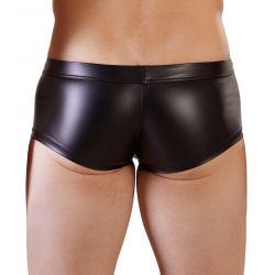 Boxer elástico y ceñido en tejido brillante con saco desmontable
