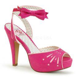 Sandalia Pinup Couture plataforma Bettie-01 de polipiel linea vintage