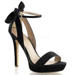 Elegantes sandalias de plataforma baja decoradas con pedrería brillante