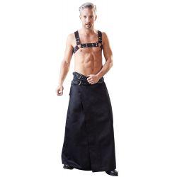 Masculina falda larga con 2 correas de hebillas ajustables