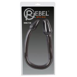 """Doble plug para el ano y la vagina de 78cm con un eje curvado""""Double Plug"""""""