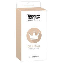 """Condones transparentes 24 unidades de la marca """"Secura Kondome"""""""