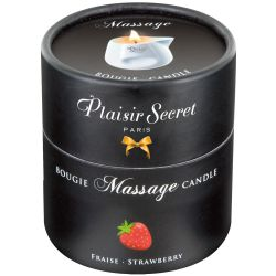 "Vela de masaje 80 ml con un aroma a fresa, de la marca ""Massage Candle"""