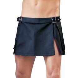 Falda corta para hombres estilo gladiador, con bolsillos y hebillas