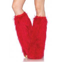 Calentadores para piernas de pelo largo disponibles en 5 colores