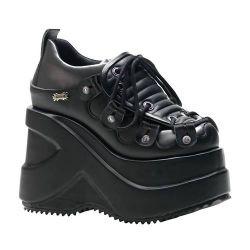 Zapato de Plataforma Acordonado y Empeine Acolchado