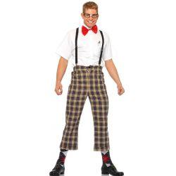 Disfraz masculino 4 piezas del empollon de la clase