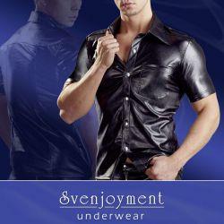 """Camiseta """"Uniform"""" llamativa simulando el cuero"""
