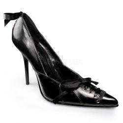 Zapato de piel de barquilla clasica atado