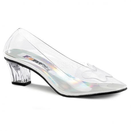 Zapato mocasín tacón transparente