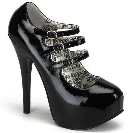 Zapatos de plataforma con triple correa