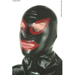 Mascara de látex con color en ojos y boca