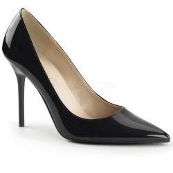 Zapatos elegantes en charol brillante con tacón de aguja