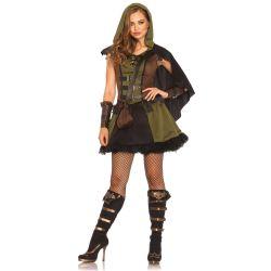 Vestido disfraz de mujer gótica malvada de la marca Leg Avenue