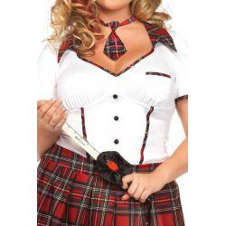 Leg Avenue disfraz sexy colegiala coqueta de 3 piezas hasta talla XXXL