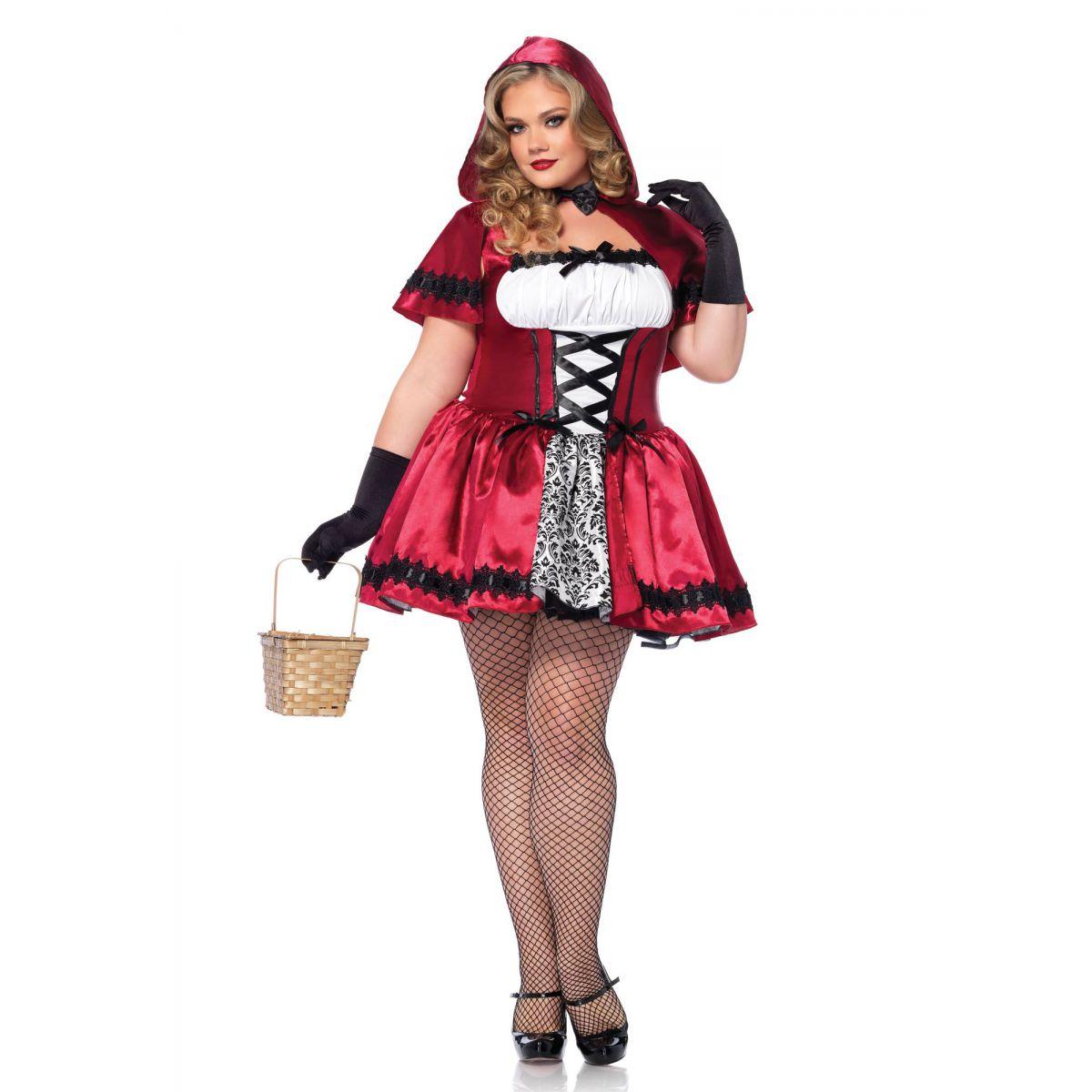 Leg Avenue disfraz sexy para mujer caperucita roja gótica de 2 piezas