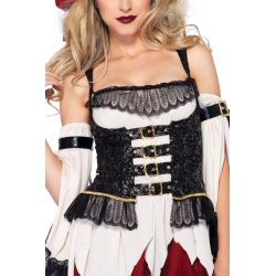 Leg Avenue disfraz sexy de dulce pirata formado por 3 piezas