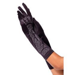 Leg Avenue guantes con strass simulando huesos complementos de disfraz