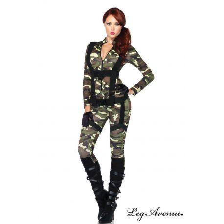 Uniforme sexy de camuflaje 2 piezas de Leg Avenue