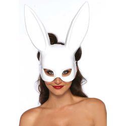 Máscara grande de conejito bondage de plástico imitación cuero