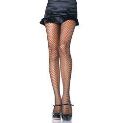 Pantys a la cintura de rejilla elástica de nylon