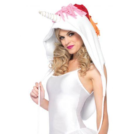 Leg Avenue capcuha de peluche con forma de unicornio