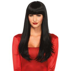 Leg Avenue peluca de pelo largo y liso con flequillo recto