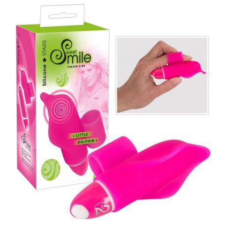 Mini vibrador para el dedo con forma de delfín y 7 vibraciones