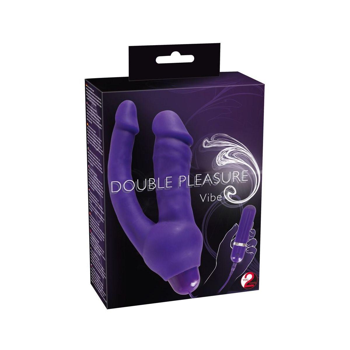 Vibrador flexible doble placer con 10 modos de vibración