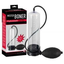 "Bomba de succión para pene ""Mister Boner"" de 20 cm con bomba de mano"