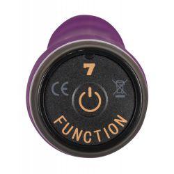 Vibrador con forma de pene realista veteado con 7 modos de vibracion