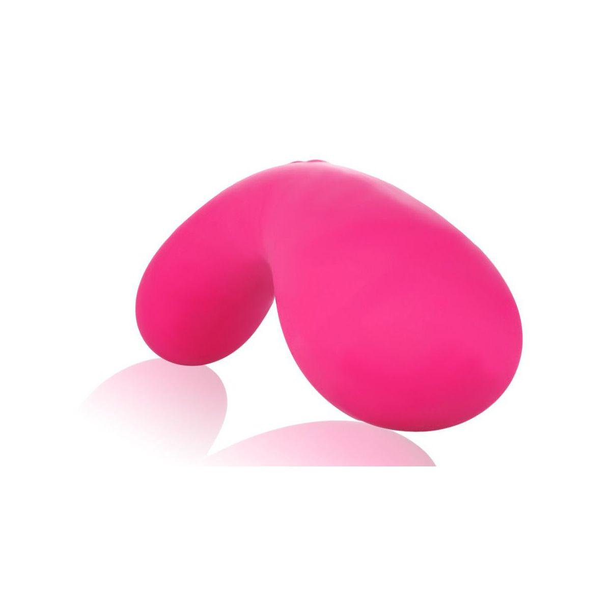 Vibrador rosa con 2 potentes motores en cada extremo y 7 vibraciones