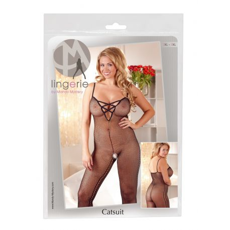 Body catsuit en talla grande decorado con orificios en costados