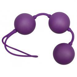 """3 Bolas chinas """"PurpleBalls"""" con superficie sedosa y vibración interna"""