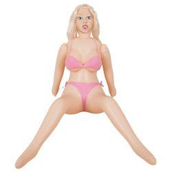 Muñeca hinchable con grandes pechos y piernas dobladas 160 cm altura