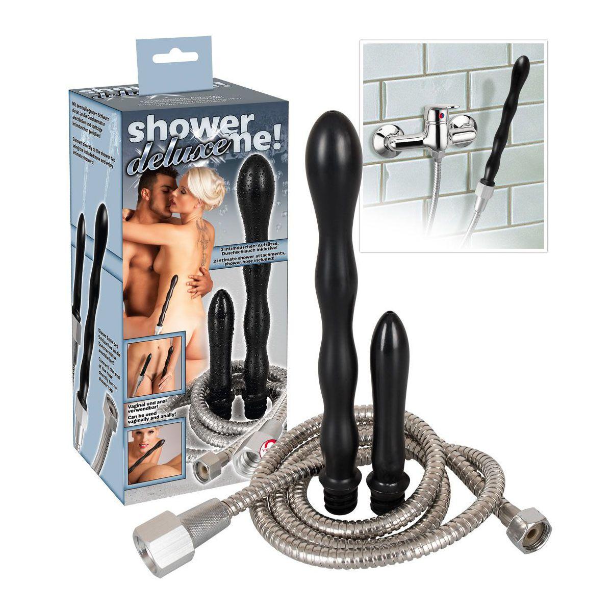 ¡Ducharse nunca fue tan divertido! Set ducha vaginal-anal con manguera