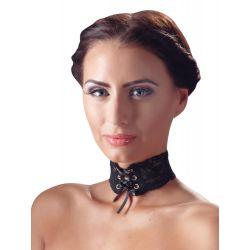 ¡El complemento perfecto! gargantilla de encaje con cinta entrelazada