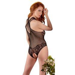 ¡Te rendirás a su erotismo!. body de fina red con sensuales aberturas