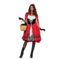 Disfraz clásico de Caperucita Roja para Carnaval de Leg Avenue