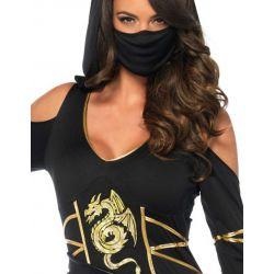 Disfraz Leg Avenue para carnaval de mujer ninja de 3 piezas