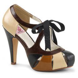 Zapato Pinup Couture Bettie-19 estilo vintage y plataforma de polipiel