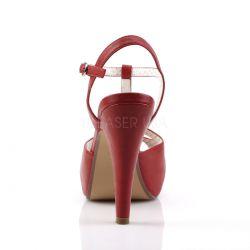 Sandalia Pinup Couture Bettie-23 estilo vintage Pepp Toe tiras cruzadas