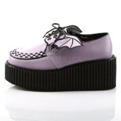 Zapatos creepers Demonia plataforma con alas murcielago talla 36 a 42