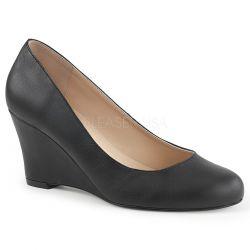 Zapatos clásicos polipiel y tacón cuña en tallas grandes desde 40 a 48