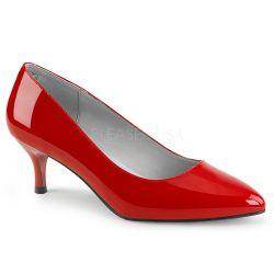 Zapatos tacón bajo y charol brillante en tallas grandes desde 40 a 48