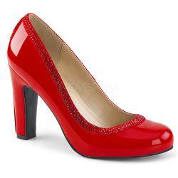 Elegantes zapatos clásicos charol y pedrería en tallas grandes 40 a 48