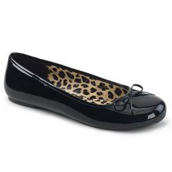 Zapatos bajos de ballet en charol brillante tallas grandes de 40 a 48