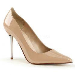 Zapatos Fetish Stiletto charol y tacón aguja metálico tallas 35 a 48